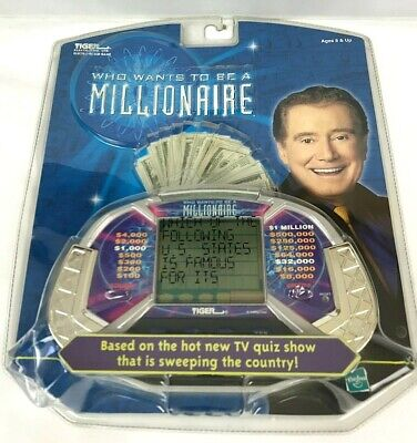 £29.12 • Buy Who Wants To Be A Millionaire Handheld Tiger Electronic Game Regis Philbin 2000