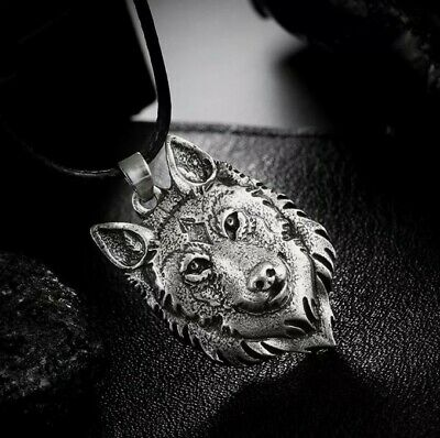 £4.50 • Buy Wolf Necklace Pendant Pewter .Wicca Pagan Celtic    **sale Was £7.50**