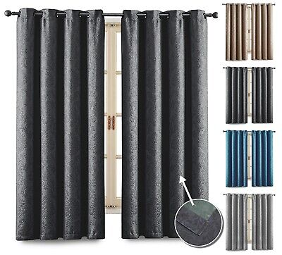£27.54 • Buy Blackout Curtains Kitchen Living Room Bedroom Small / Short Window Curtain Pair