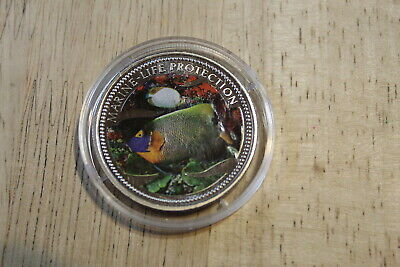 $16.80 • Buy Palau 2001 $1 Coin - Mermaid  - Butterfly Fish - Marine Life Colorized Obv