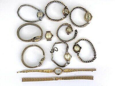 $ CDN49.95 • Buy Vtg Ladies Watch Lot For Parts Repair Some Gold-Filled Bertmar Timex Waltham