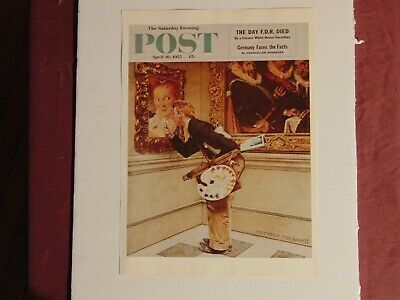 $ CDN10.14 • Buy Saturday Evening Post April 16 1955  (REPRINT) Norman Rockwell (COVER ONLY)
