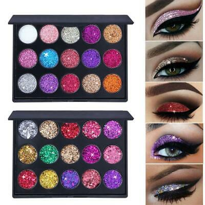 AU10.11 • Buy 15 Colors Highlight Sequins Long Lasting Eyeshadow Palette Make Up LZC