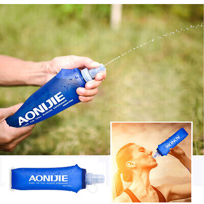 AU13.97 • Buy 500ML Soft Foldable Hydration Water Bottle Sport Running Flask Outdoor Camping