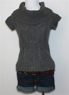 $13 • Buy AMERICAN EAGLE Cable Knit Turtle Cowl Neck Pullover Sweater Top Blouse Shirt XS