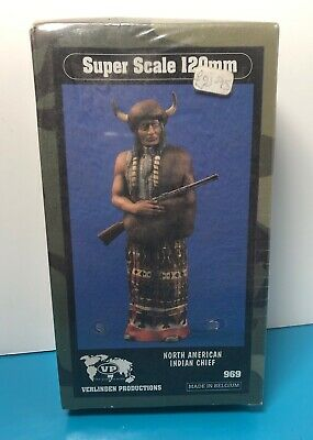 VERLINDEN PRODUCTIONS #969 North American Indian Chief Resin Figure In 1:16 NEW • 25£