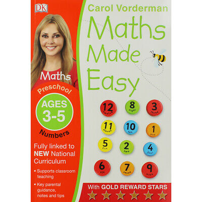 Maths Made Easy: Ages 3-5 By Carol Vorderman (Paperback), Books, Brand New • 5£