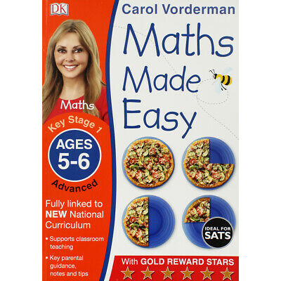 Maths Made Easy: Ages 5-6 By Carol Vorderman (Paperback), Books, Brand New • 5£