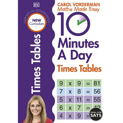 £7 • Buy 10 Minutes A Day: Times Tables By Carol Vorderman (Paperback), Books, Brand New