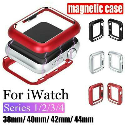 $ CDN5.44 • Buy For Apple Watch Series 5/4/3/2/1 Magnetic Metal Case Bumper Cover 38-44mm