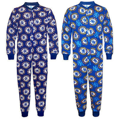 Chelsea FC Official Football Gift Boys Kids Pyjama All-In-One Blue • 8.99£