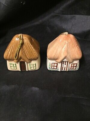 £2.99 • Buy 2 X Vintage China Cottage Pomanders Aidee Of Torquay Bovey Tracey Pottery