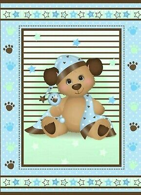 An Adorable Seawater Friends Baby Animals At Play Cotton Quilting Fabric Panel Free US Shipping