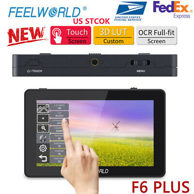 AU191.92 • Buy FEELWORLD F6 PLUS Monitor 5.5  Touch Screen 3D LUT 4K HDMI Video On Camera DSLR