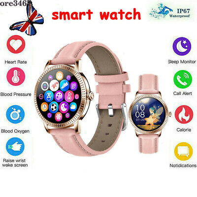 AU43.99 • Buy Women Girl Smart Watch Blood Oxygen Pressure Heart Rate Fit For Android IPhone