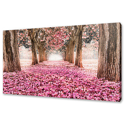 £19.99 • Buy Beautiful Romantic Tunnel Of Pink Flowers Trees Canvas Print Wall Art Picture
