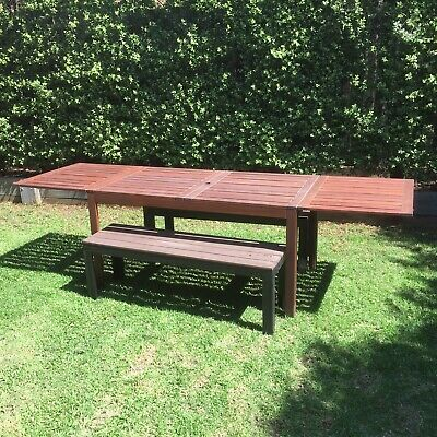 AU270 • Buy Timber Extendable Outdoor Dining Setting