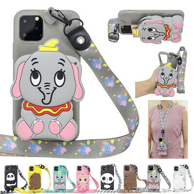 AU16.69 • Buy For IPhone 11 Pro Max XR X 8 7 6 With Strap Soft Cute Rubber Case Pattern Cover
