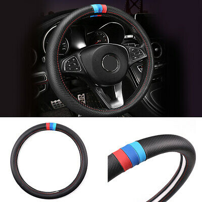 $25.60 • Buy 2020 Carbon Fiber Leather Steering Wheel Cover Protector Slip-On For BMW M Sport