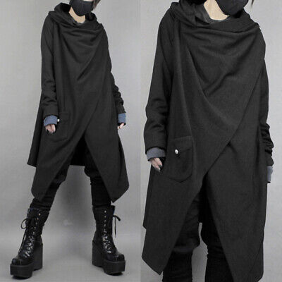 $24.97 • Buy Mens Parka Gothic Trench Cloak Casual Loose Jacket Punk Cape Poncho Coat Outwear