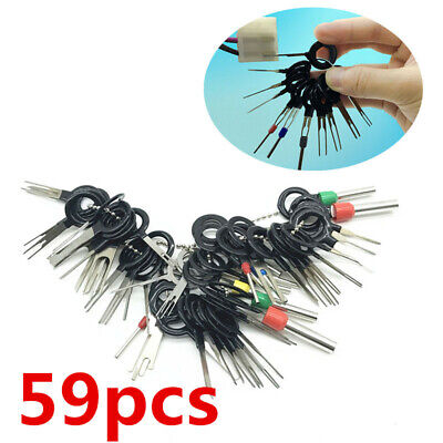 $15.75 • Buy 59PCS Auto Parts Car Wire Connector Pins Terminals Repair Removal Key Tools Set