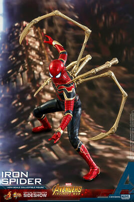 $315 • Buy Hot Toys 1/6 Marvel Avengers Infinity War Mms482 Iron Spider Spider-man Figure