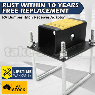AU66.99 • Buy RV Bumper 2  Receiver Hitch Bike Rack Cargo Carrier 4  Square Adapter Receiver