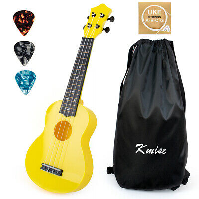 AU30.99 • Buy Ukulele Soprano Chrismas Toy For Kids 21 Inch ABS Yellow Uke W/ Bag Picks String