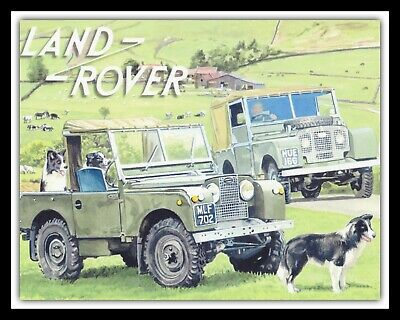 LAND ROVER 4x4 OFF JEEP ROAD FARM FARMER SHEEPDOG METAL PLAQUE TIN SIGN 1747 • 6.99£