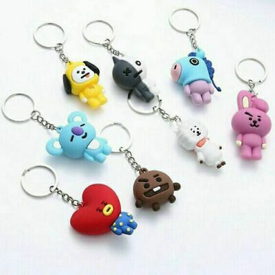 $5.99 • Buy Kpop Bts21 Bagtang Boys Collectible Keychains Line Cute Characters