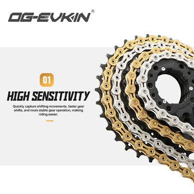 AU43.08 • Buy OG-EVKIN 9/10/11 Speed Bicycle Half/Full Hollow Bike Chain Mountain/Road Chains