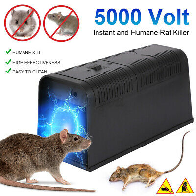 Electronic Mouse Trap Mice Killer Rat Pest Control Electric Zapper Rodent UK ~ • 17.64£