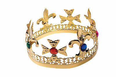 £1.17 • Buy Medieval Renaissance Gold Jeweled Crown King Queen Royalty Costume Accessory