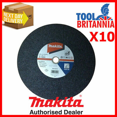 Makita Metal Chop Saw Cutting Disc 355mm 14  Pack Of 10 ( = Only £4.99 Each ) • 49.90£
