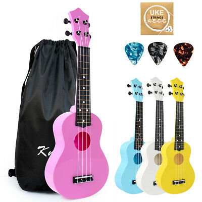 AU29.99 • Buy Soprano Ukulele 21 Inch Christmas Toy Kids ABS Uke With Bag Picks String