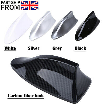 1xCarbon Fiber Car Shark Fin Aerial Antenna Roof AM/FM Radio Signal For BMW UK • 9.69£