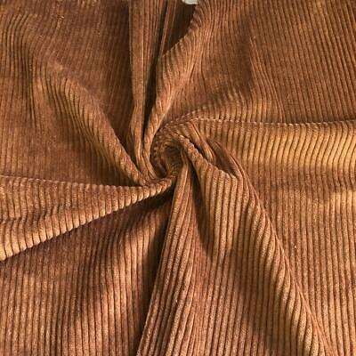 £8.99 • Buy WASHED Jumbo Cord 4.5 Wale Cotton Velvet Fabric Material GINGER