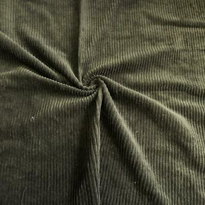 £8.99 • Buy WASHED Jumbo Cord 4.5 Wale Cotton Velvet Fabric Material OLIVE