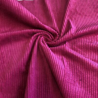 £1.99 • Buy WASHED Jumbo Cord 4.5 Wale Cotton Velvet Fabric Material CERISE PINK