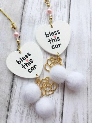 $17.75 • Buy Religious Car Accessories, Rear View Mirror Decor, Auto, Gift For Women Girls