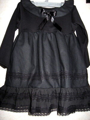 £24.50 • Buy Collar Gothic Dress Baby  Black Lace Headband Set Gift Party Halloween Wednesday