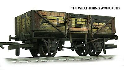 Dapol 5 Plank BR Ex PO Open Coal Wagon + Optional Load *PRO WEATHERED LOOK*** • 11.99£