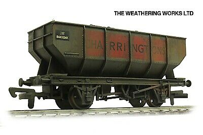 Dapol 21t BR / PO Mineral / Coal Hopper Wagon +optional Load PRO WEATHERED LOOK* • 19.99£