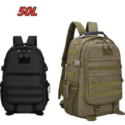 £17.99 • Buy 50L Outdoor Military Tactical Army Backpack Rucksack Camping Hiking Trekking Bag