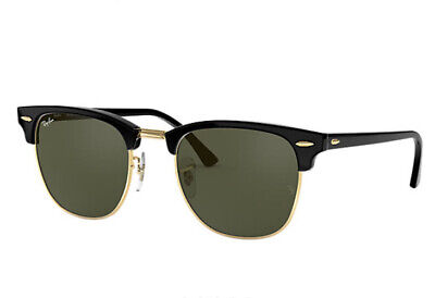 AU119 • Buy Authentic Ray Ban Sunglasses RB3016 W0365 51mm Clubmaster Black Frame Green Lens