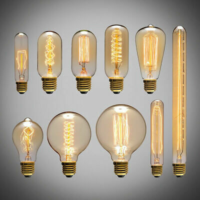 £11.98 • Buy E27 Vintage Industrial Filament Light Bulb Lamps Squirrel Cage Edison Bulbs
