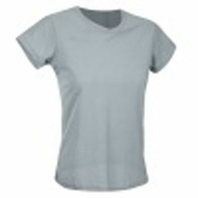 $9.95 • Buy New S Small Women Top Tee Shirt ATHLETIC TRACK JERSEY MESH GRAY SportHill Z119