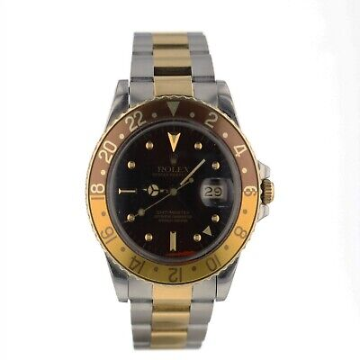 $ CDN14016.97 • Buy Rolex GMT Master Tropical Rootbeer Nipple Dial Automatic Watch 16753 Circa 1983