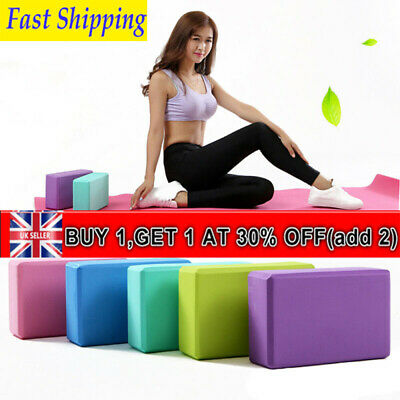 HOT!! Non-Slip Yoga Block Brick EVA Exercise Pilates Fitness Sports Stretching • 5.56£
