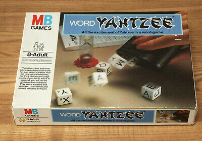 Vintage 1979 Word Yahtzee Fully Complete Mb Games Word Game • 9.99£